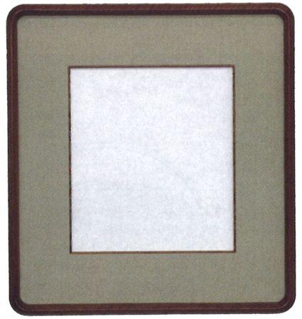 色紙額 中間隅丸(チーク) 【 縦42.5x横39.5CM 】