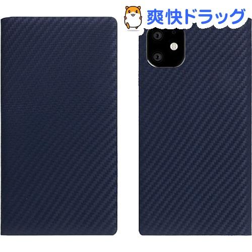 SLG Design iPhone 11 carbon leather case ネイビー SD17900i61R(1個)【SLG Design(エスエルジーデザイン)】