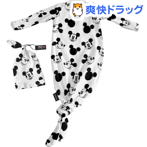 ミルクスノッブ ベビーハット&ガウン 0-3M ミッキースケッチ(1セット)【ミルクスノッブ(milk snob)】