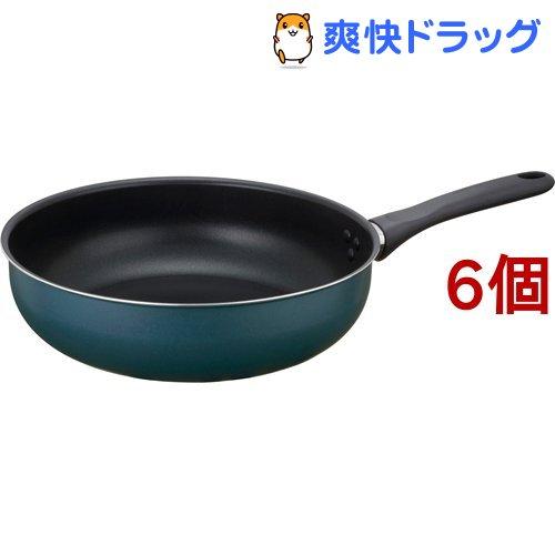 驚きの値段 サーモス THERMOS 初回限定 フライパン炒め鍋 28cm 6個セット KFD-028D ネイビー NVY