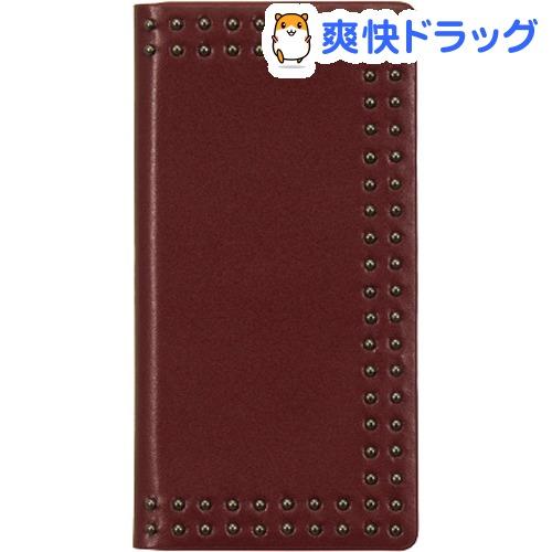 エブルイ iPhone XS Max ドットスタッズダイアリー レッド EB14405i65(1コ入)
