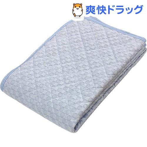 京都西川 ひんやり 敷パッド シングル ブルー 5I-SS077 S(1枚)【京都西川】