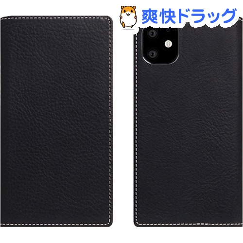 SLG Design iPhone 11 Minerva Box Leather Case ブラック SD17909i61R(1個)【SLG Design(エスエルジーデザイン)】