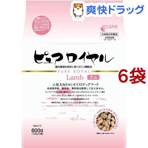 ドッグフード ピュアロイヤル 激安☆超特価 直営限定アウトレット ラム 600g 6コセット