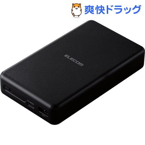 エレコム モバイルバッテリー 大容量 PD認証 20000mAh DE-C19L-20000BK(1個)