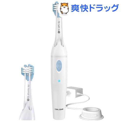 電動歯ブラシ COOLSSHA 3方向同時 電動歯ブラシ IPX7完全防水 ホワイト CS-0001WH(1個)