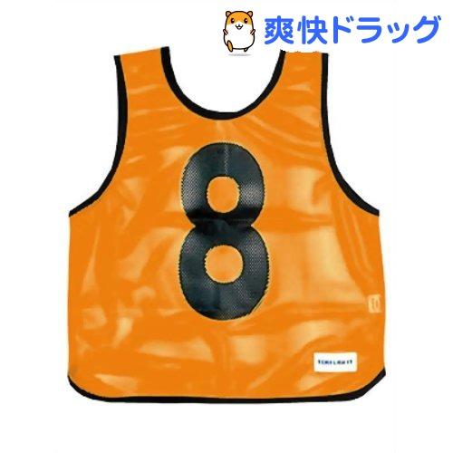 メッシュベストジュニア(1-10) 蛍光オレンジ B-7693V(1枚入)【トーエイライト】
