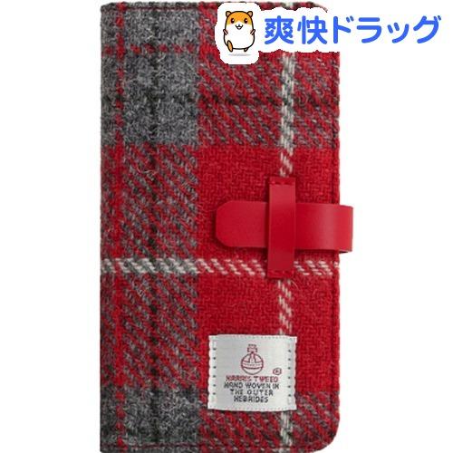 SLG iPhone XR ハリスツイードダイアリー レッド*グレー SD13715i61(1個)【SLG Design(エスエルジーデザイン)】