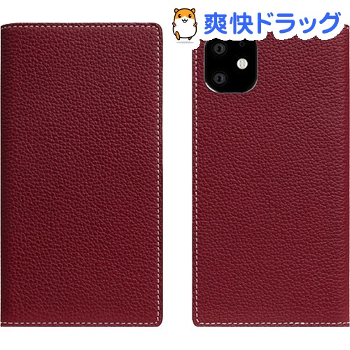 SLG Design iPhone 11 Full Grain Leather Case バーガンディローズ SD17915i61R(1個)【SLG Design(エスエルジーデザイン)】
