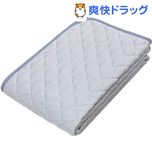 京都西川 ひんやり 敷パッド シングル ブルー 5I-SS078 S(1枚)【京都西川】