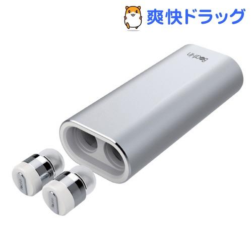 ビートイン 超小型・完全ワイヤレスイヤホン パワーバンク シルバー BI9316(1コ入)