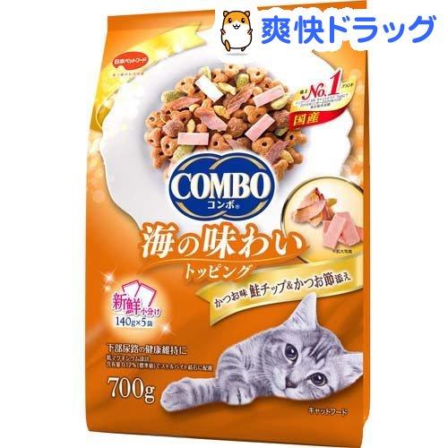 登場大人気アイテム キャットフード 市販 コンボ COMBO 猫下部尿路の健康維持 かつお味 かつお節添え 140g 5袋入 鮭チップ