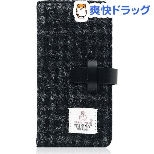 SLGデザイン iPhone7 ハリスツィードダイアリー ブラック SD8117i7(1コ入)【SLG Design(エスエルジーデザイン)】