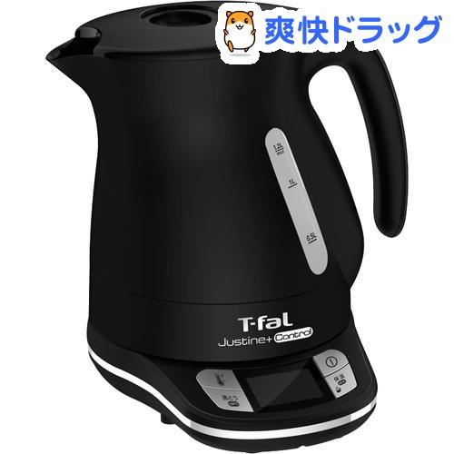 ティファール 電気ケトル ジャスティンプラスコントロール 1.2L ブラック KO7558JP(1台)【ティファール(T-fal)】