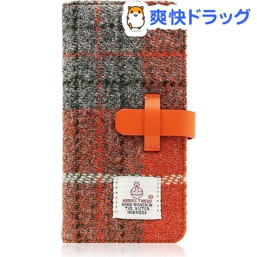 SLGデザイン iPhone7 ハリスツィードダイアリー オレンジ*グレー SD8119i7(1コ入)【SLG Design(エスエルジーデザイン)】