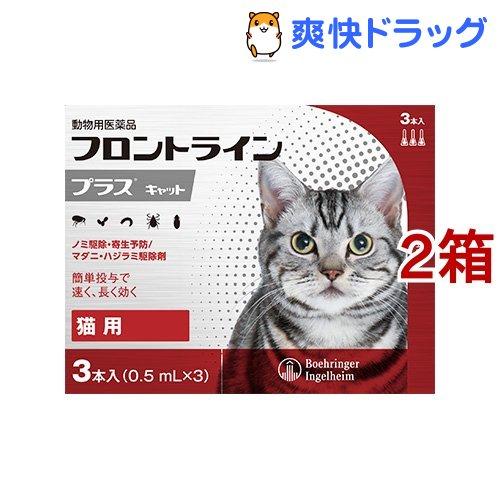 フロントラインプラス 動物用医薬品 猫用 2箱セット 出荷 3本入 新作続
