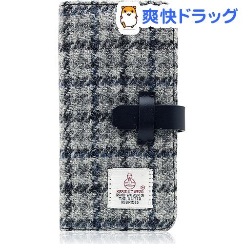 SLGデザイン iPhone7 ハリスツィードダイアリー グレー*ネイビー SD8120i7(1コ入)【SLG Design(エスエルジーデザイン)】