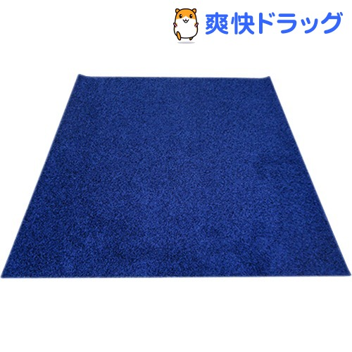イケヒコ シャンゼリゼ ラグマット 190*240cm ネイビー 抗菌 防ダニ 防臭 防炎(1枚入)