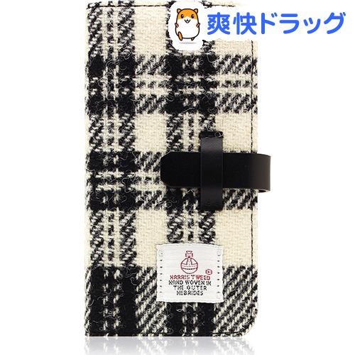 SLGデザイン iPhone7 ハリスツィードダイアリー ホワイト*ブラック SD8122i7(1コ入)【SLG Design(エスエルジーデザイン)】