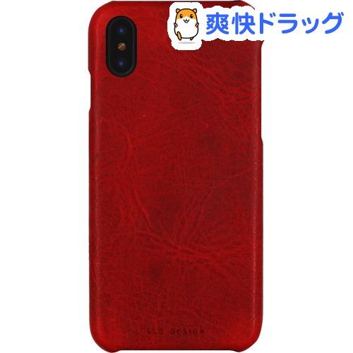 エスエルジーデザイン iPhone X バダラッシーワックスバーケース レッド SD10524i8(1コ入)【SLG Design(エスエルジーデザイン)】