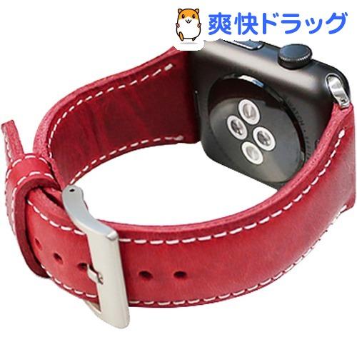 SLG Apple Watch 42mm用バンド バダラッシワックスレザー レッド SD11725AW(1コ入)【SLG Design(エスエルジーデザイン)】