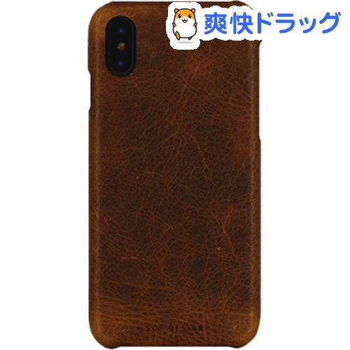 エスエルジーデザイン iPhone X バダラッシーワックスバーケース ブラウン SD10525i8(1コ入)【SLG Design(エスエルジーデザイン)】