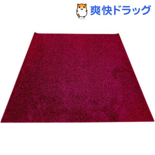 イケヒコ シャンゼリゼ ラグマット 190*190cm ワイン 抗菌 防ダニ 防臭 防炎(1枚入)