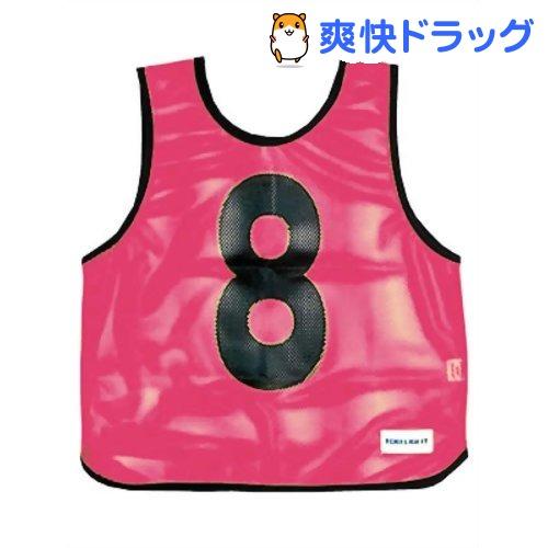 メッシュベストジュニア(1-10) 蛍光ピンク B-7693P(1枚入)【トーエイライト】