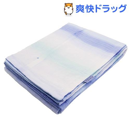 東京西川 肌掛け布団 シングル 麻混 さらさら触感 洗える 日本製 ブルー(1枚入)【東京西川】
