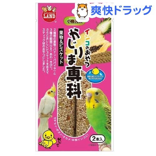 インコのおやつ かじりま専科 果物&ビスケット(2本入)
