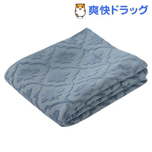 東京西川 エアブリーズケット ガーゼ&パイル ブルー シングル RR08100004B(1枚入)【東京西川】