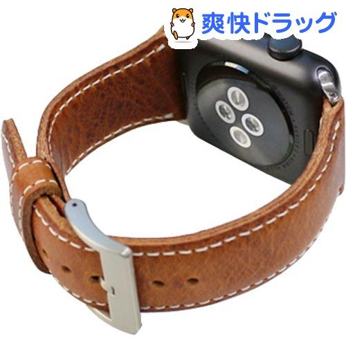SLG Apple Watch 42mm用バンド バダラッシワックスレザー ブラウン SD11727AW(1コ入)【SLG Design(エスエルジーデザイン)】