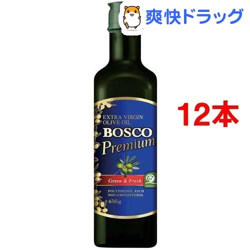 【イタリア品質協会認定】ボスコプレミアムエキストラバージンオリーブオイル(456g*12本セット)【BOSCO(ボスコ)】