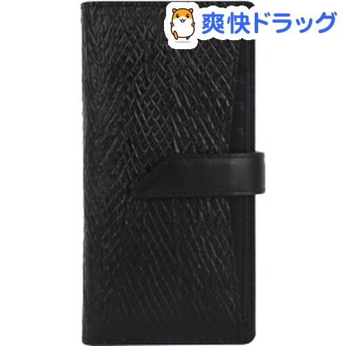 デザインスキン 多機種対応スライド式 ウォレットプラス L ブラック DSK13434(1コ入)