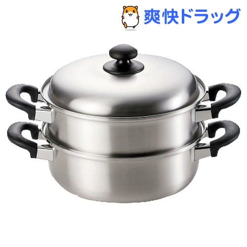 燕三 三層鋼二段蒸し器 24cm EM-8127(1コ入)【燕三】