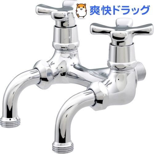 GAONA これエエやん ガーデン用双口ホーム水栓 GA-RE004(1個)【GAONA】