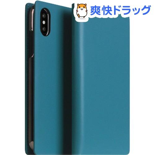SLG iPhone XS MAX カーフスキンレザーダイアリー ブルー SD13739i65(1個)【SLG Design(エスエルジーデザイン)】