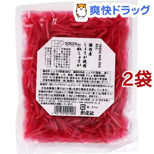 創健社 紅しょうが 公式通販 ふるさと割 細切 60g 2コセット