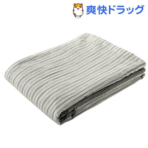 肌掛け布団 シングル 洗える 麻 速乾 吸湿 しなやか竹素材 グレー AE08502046GR(1枚入)【東京西川】