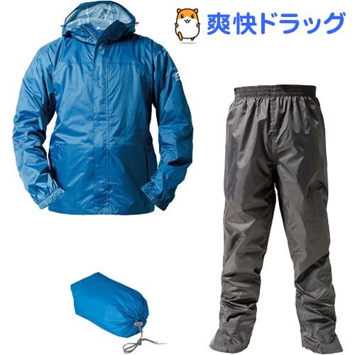 マック レインスーツ アジャストマック バッグイン スカイブルー S AS-7600SBS(1セット)【Makku(マック)】
