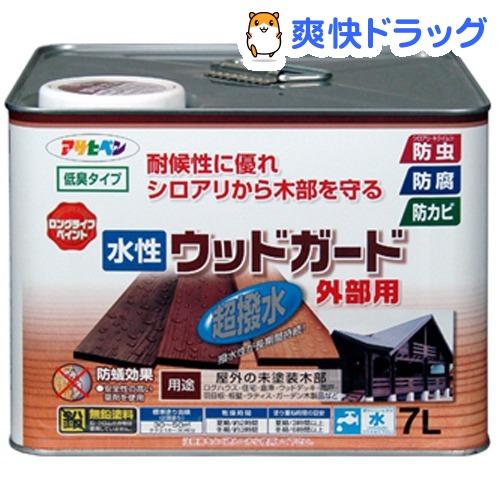 アサヒペン 水性ウッドガード外部用 透明(クリヤ)(7L)【アサヒペン】