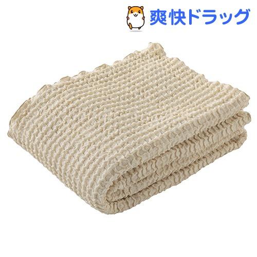 東京西川 さらさらケット ワッフルガーゼ ベージュ シングル RR08131017BE(1枚入)【東京西川】