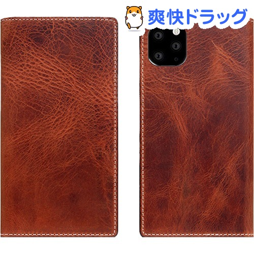 SLG Design iPhone 11 Pro Max Badalassi Wax case ブラウン SD17945i65R(1個)【SLG Design(エスエルジーデザイン)】