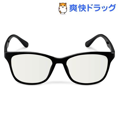 ブルーライトカット眼鏡 クリアレンズ ウェリントンフレーム ブラック G-BUC-W02BK(1個)【エレコム(ELECOM)】
