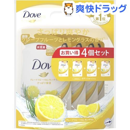 ダヴ Dove 注目ブランド 奉呈 ボディウォッシュ グレープフルーツ 360g つめかえ用 レモングラス 4個セット