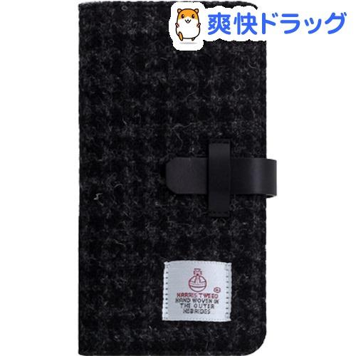 SLG iPhone XS MAX ハリスツイードダイアリー ブラック SD13749i65(1個)【SLG Design(エスエルジーデザイン)】