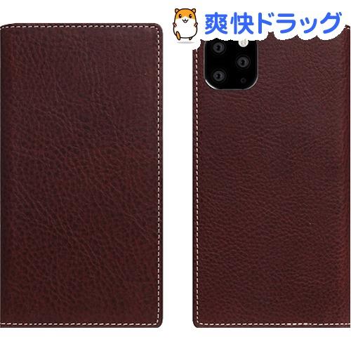 SLG Design iPhone 11 Pro Max Minerva Box Leather Case ブラウン SD17949i65R(1個)【SLG Design(エスエルジーデザイン)】