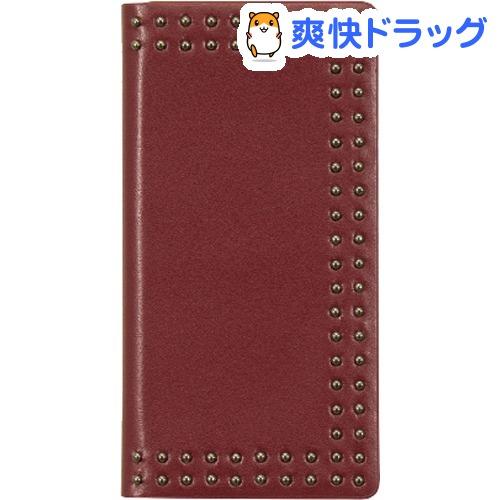 エブルイ iPhone X ドットスタッズダイアリー レッド EB10251i8(1コ入)
