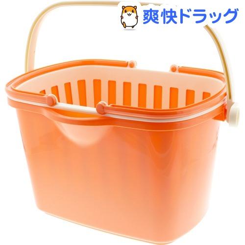 カゴバケツ 角型 バスケット付 オレンジ F2609 NEW 10L 1コ入 お中元