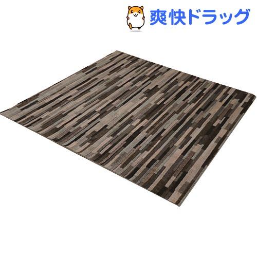 イケヒコ マットーネ ラグマット 190*190cm ブラウン 抗菌 防ダニ 防臭 日本製(1枚入)